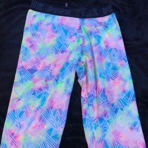 Rainbow pink Victoria's Secret ultimate leggings